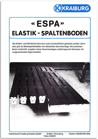 KRAIBURG ESPA - Elastische Spaltenbodenauflage 1982