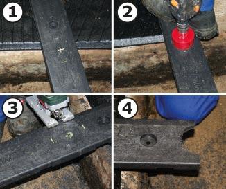 WINGFLEX Profile werden passend zu den Rohren der Pilzbügel entsprechend zugeschnitten
