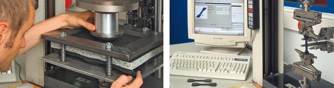KRAIBURG Qualitätsprüfung im Labor