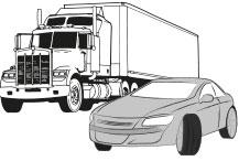 LKW und PKW mit Reifen aus extrem hochwertigem Gummi