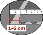 Bei der Montage von KRAIBURG Laufgangbelägen 2 cm Abstand vom seitlichen Rand halten