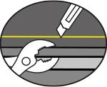 Tipp zum Schneiden von KRAIBURG Matten: zum Auseinander ziehen kleine Stücke mit einer Zange greifen