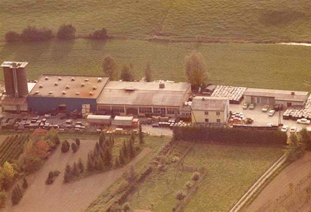 KRAIBURG Elastik Werksgelände in Tittmoning, ca. 1972