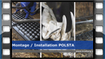 installation video for KRAIBURG POLSTA deep litter cubicle cushion made of rubber in dairy cow cubicle houses