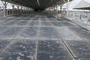 KRAIBURG KURA Flush SUN - Laufflächenmatte aus Gummi speziell für Flushing-Entmistung bzw. direkte Sonneneinstrahlung