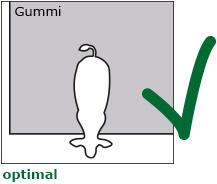 optimal: die Vollspaltenbucht ist komplett mit Gummimatten ausgelegt