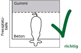 bei Teilauslegung mit Gummimatten in der Vollspaltenbucht sollen die Bullen ganz oder gar nicht auf den Matten stehen