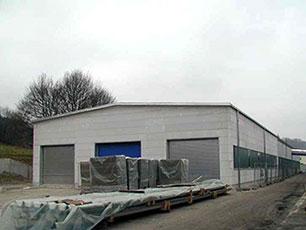 Neue Produktionshalle für Stallmatten bei KRAIBURG in Tittmoning, 1999