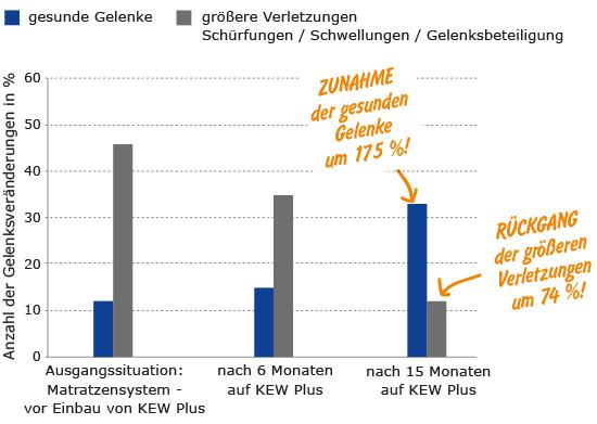 Verbesserung der Gelenksgesundheit von Kühen auf KRAIBURG KEW Plus Liegeboxenbelag
