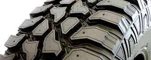 Reifenprofil mit tiefer Profilierung