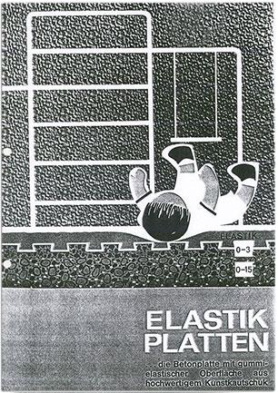 KRAIBURG Elastik-Platten - Fallschutzplatten - Prospekt 1968