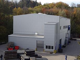 neue KRAIBURG Produktionshalle