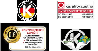 KRAIBURG Stallmatten vom Gummiprofi - in geprüfter Qualität, schadstoffgeprüft und umweltschonend
