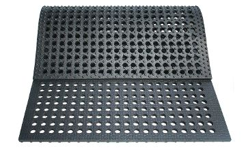 LOMAX Lochmatte aus Gummi zur einfachen Bodenstabilisierung und Befestigung von matschigen Böden / Weideeingang / Treibwegen usw.
