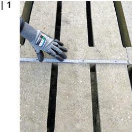 Spaltenboden wird vermessen