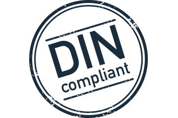 DIN-standard comfort mat