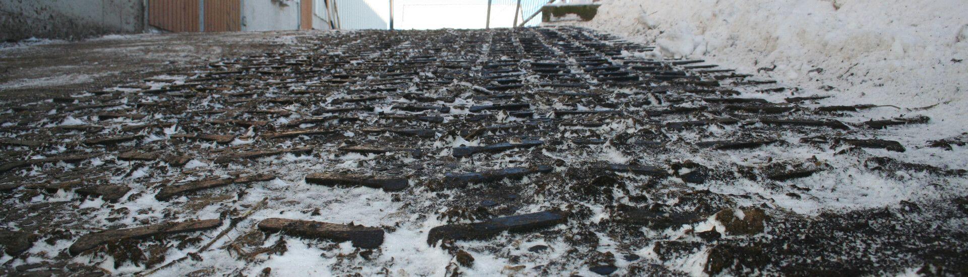 KRAIBURG MONTA: rubber flooring for steep passages in dairy housing